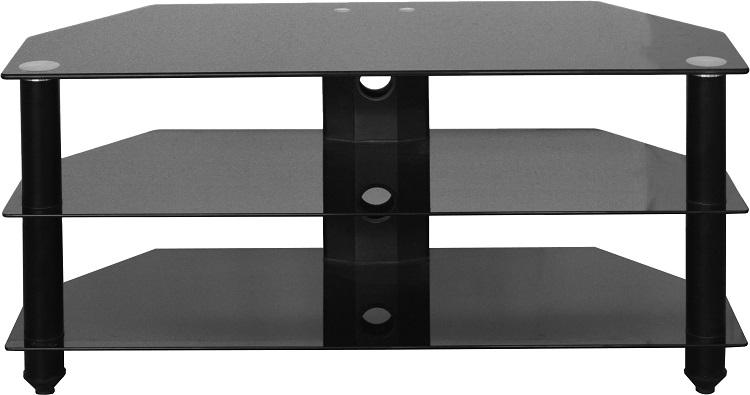 bromley black glass tv stand